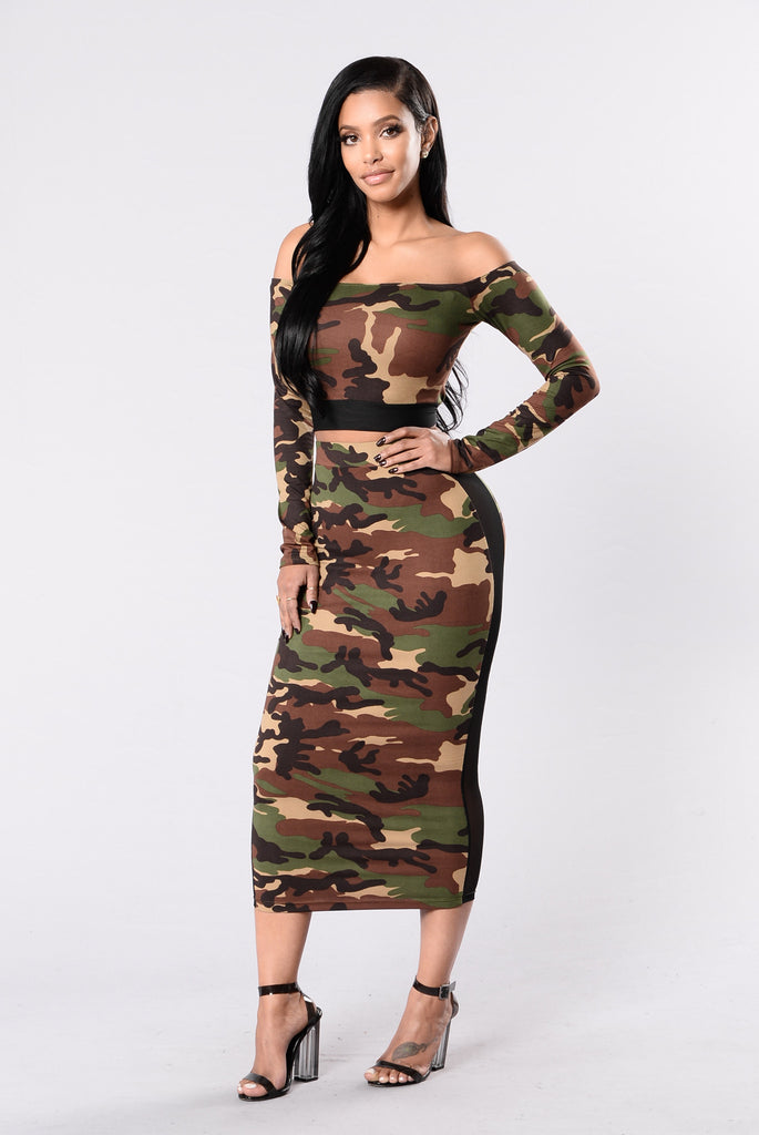 You Can Ride Shotgun Skirt - Camo