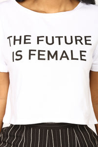 The Future Is Female Top - White Angle 3