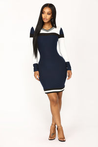 Megan Midi Dress - Navy