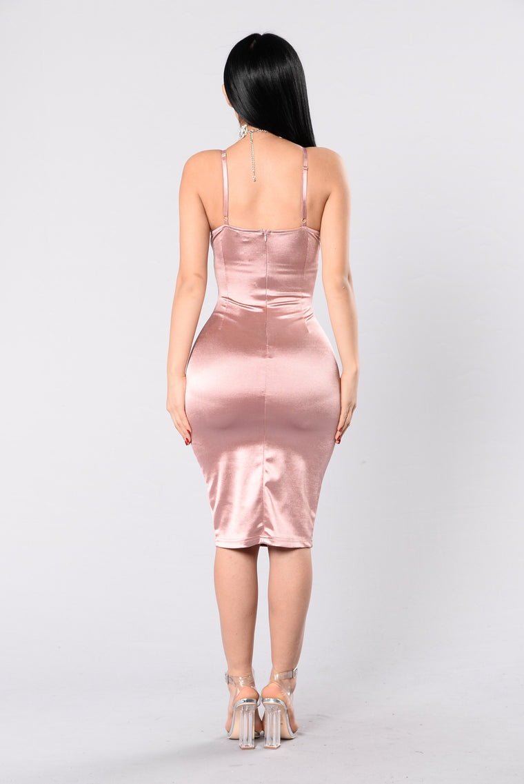 Stupid In Love Dress - Mauve