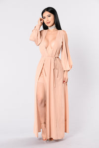 It's Going Down Dress - Nude