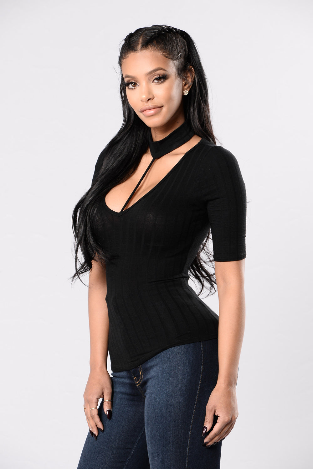 Cute And Simple Top - Black