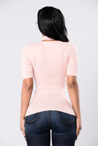 Cute And Simple Top - Dusty Pink