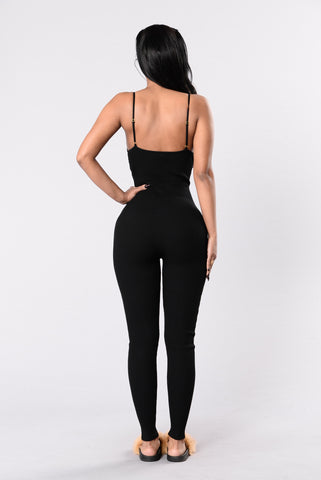 Natural Delight Jumpsuit - Black