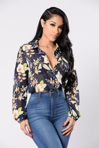 Beneath The Roses Bodysuit - Navy