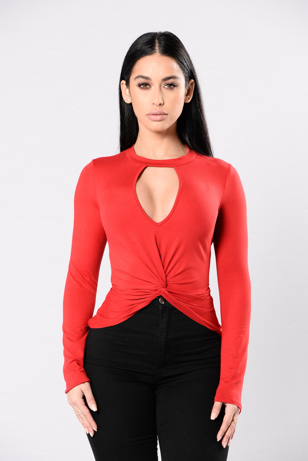Got A Hold On Me Top - Red