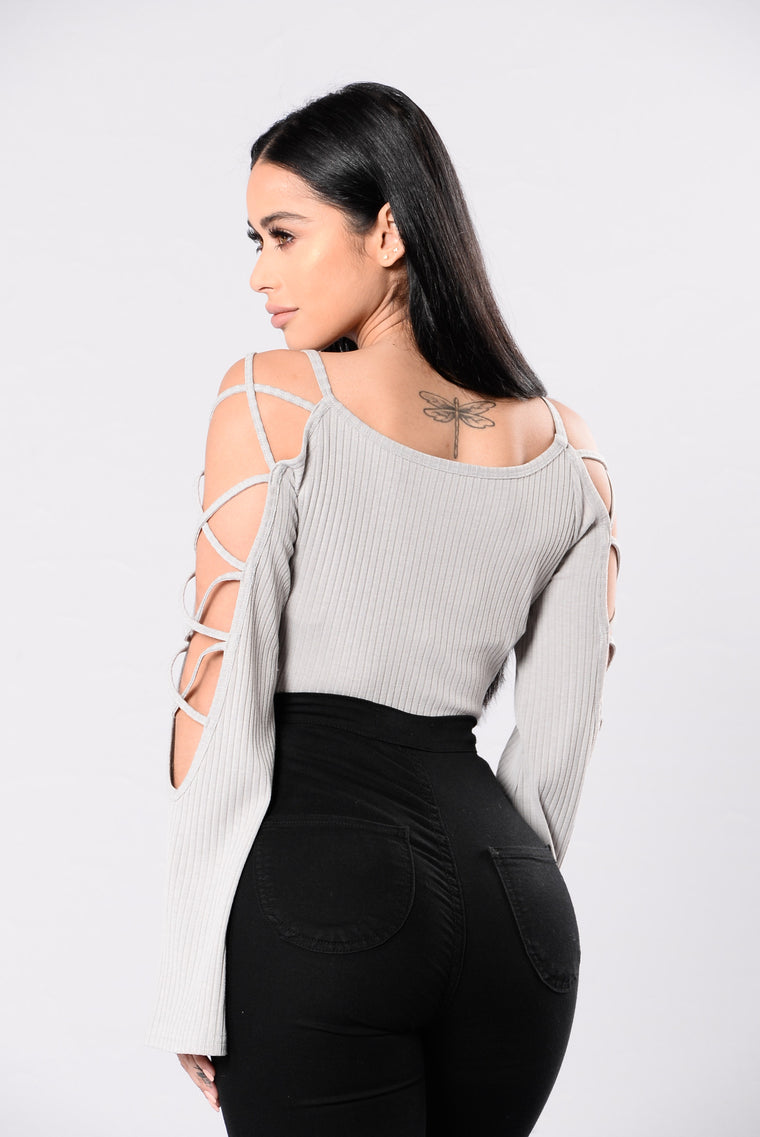 Do My Thang Bodysuit - Heather Grey