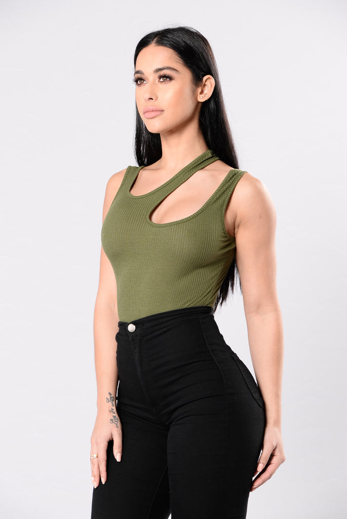 Overdue For Your Lovin Bodysuit - Olive