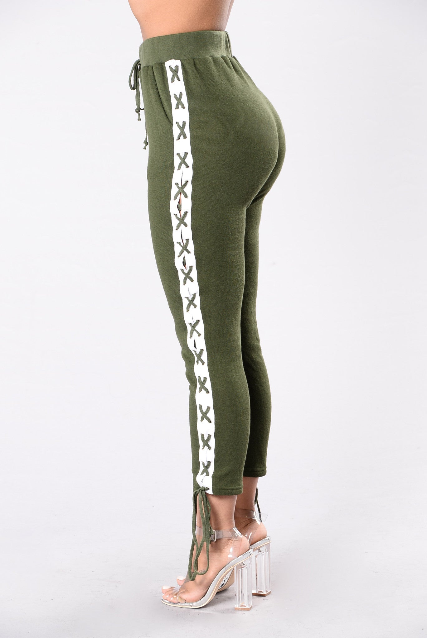Break A Sweat Pants Olive White