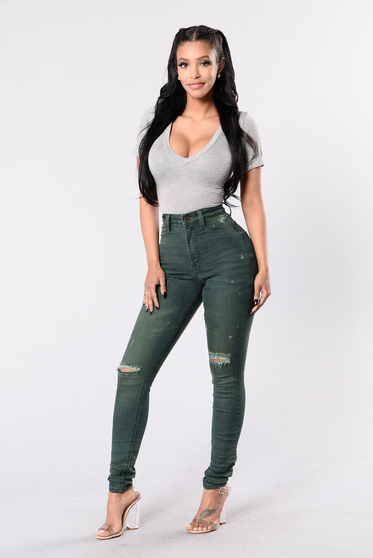 Back In The Day Jeans - Olive
