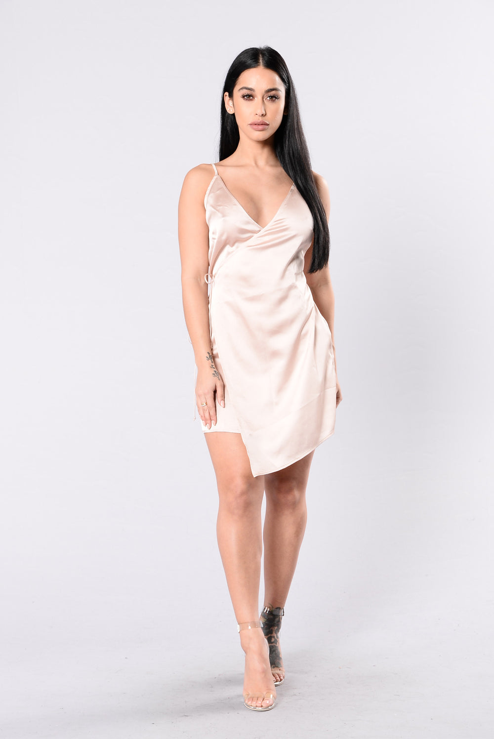 Left Hook Dress - Champagne