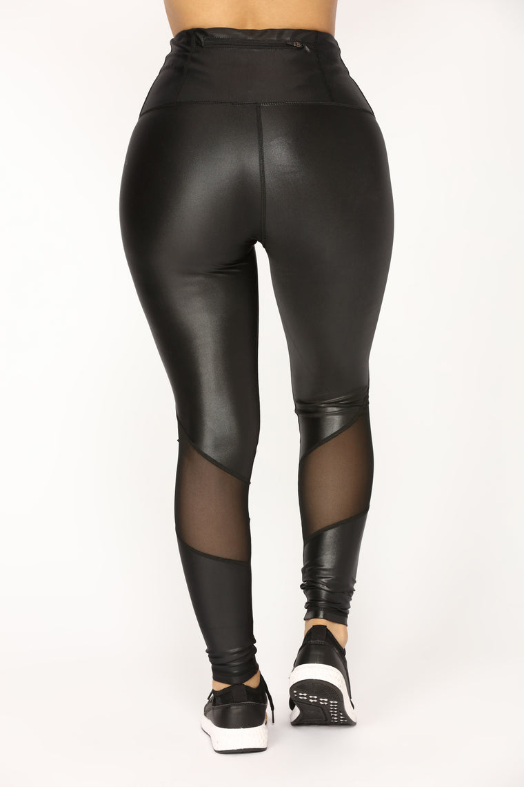 Slippery Active Leggings - Black