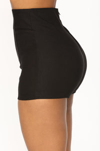 Merlinda High Rise Shorts - Black