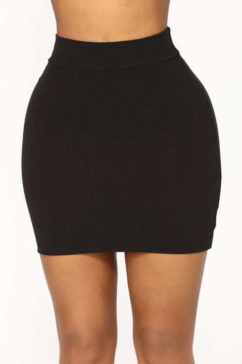 Melanie Mini Skirt - Black