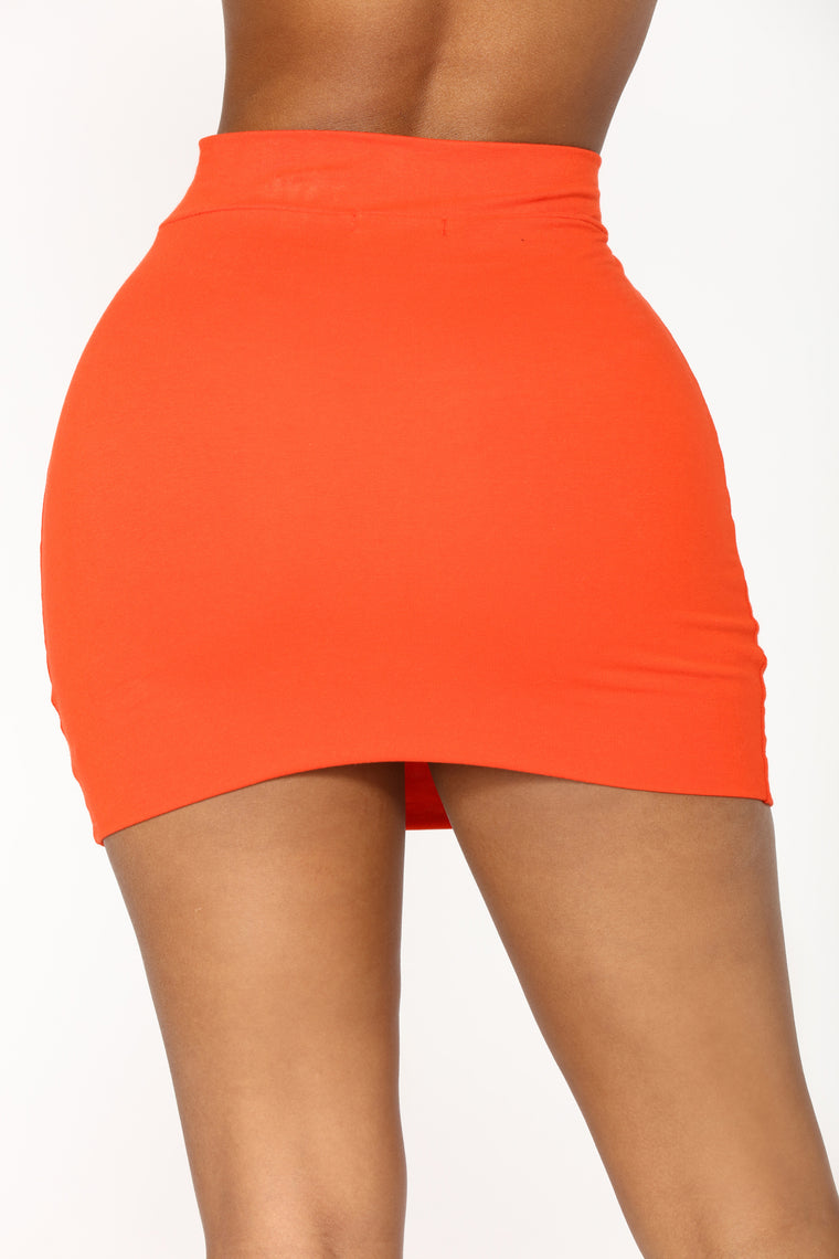 Melanie Mini Skirt - Orange