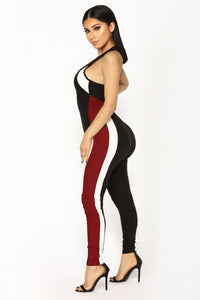 We're Solid Open Back Jumpsuit - Black