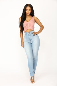 You Wear It Well Crop Top - Mauve