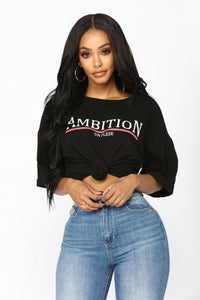 Ambition On Fleek Tee - Black