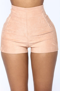 Per Suede Me Shorts - Rose Angle 2