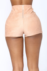 Per Suede Me Shorts - Rose Angle 5