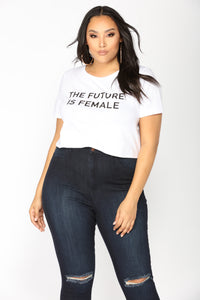 The Future Is Female Top - White Angle 8