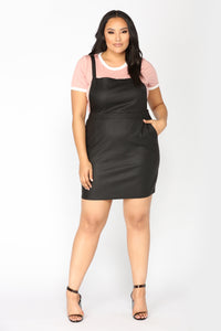 Shantal Overall Dress - Black