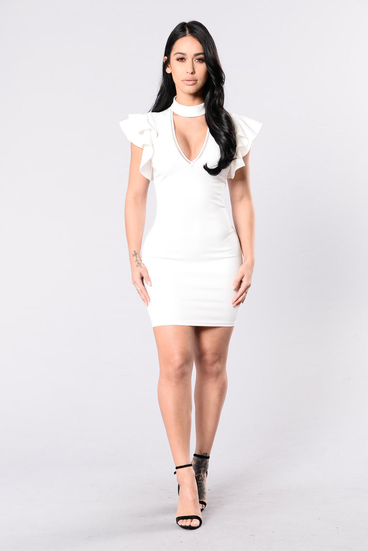 Some Call It Sophistication Dress - White