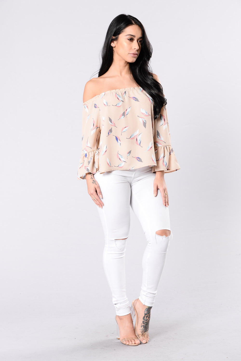 Little Moments Top - Taupe