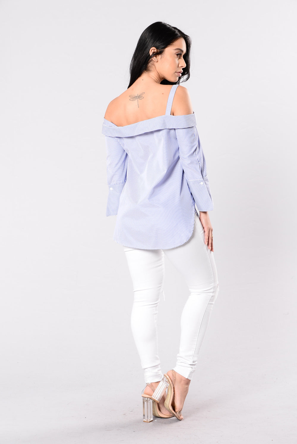 Rumor Of Skin Top - White/Navy