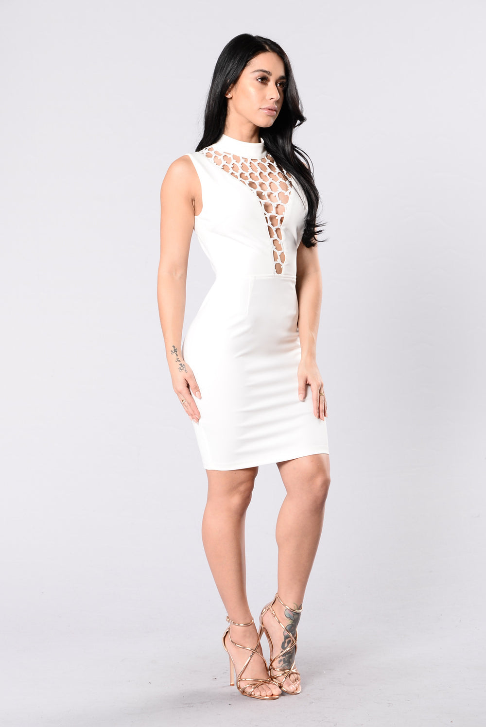 Thrilling View Dress - White