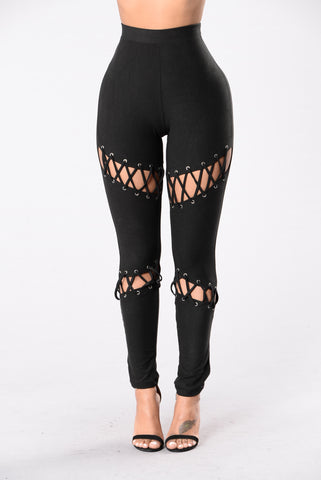 What A Stitch Legging - Black