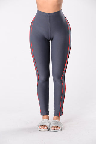 Rear View Leggings - Charcoal