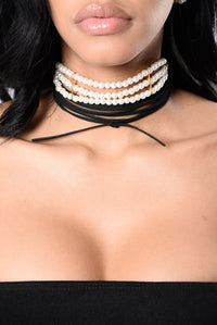 Girly Pearly Choker - Pearl