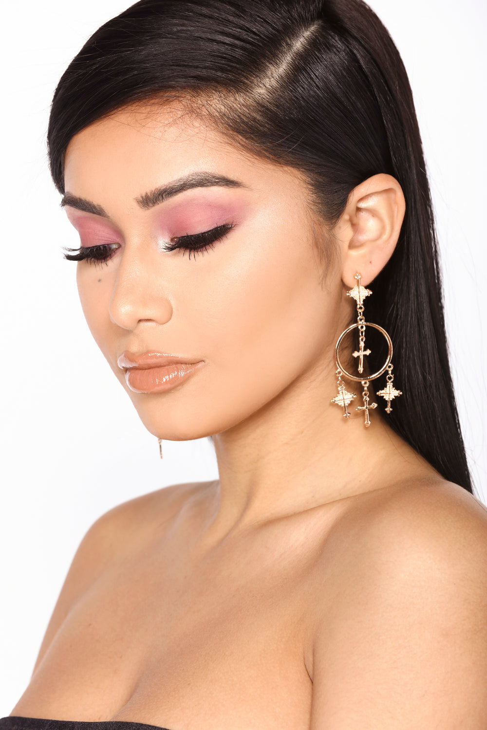 Get In My Circle Earrings - Gold