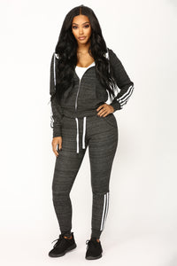 Lover Lounge Hoodie - Heather Black
