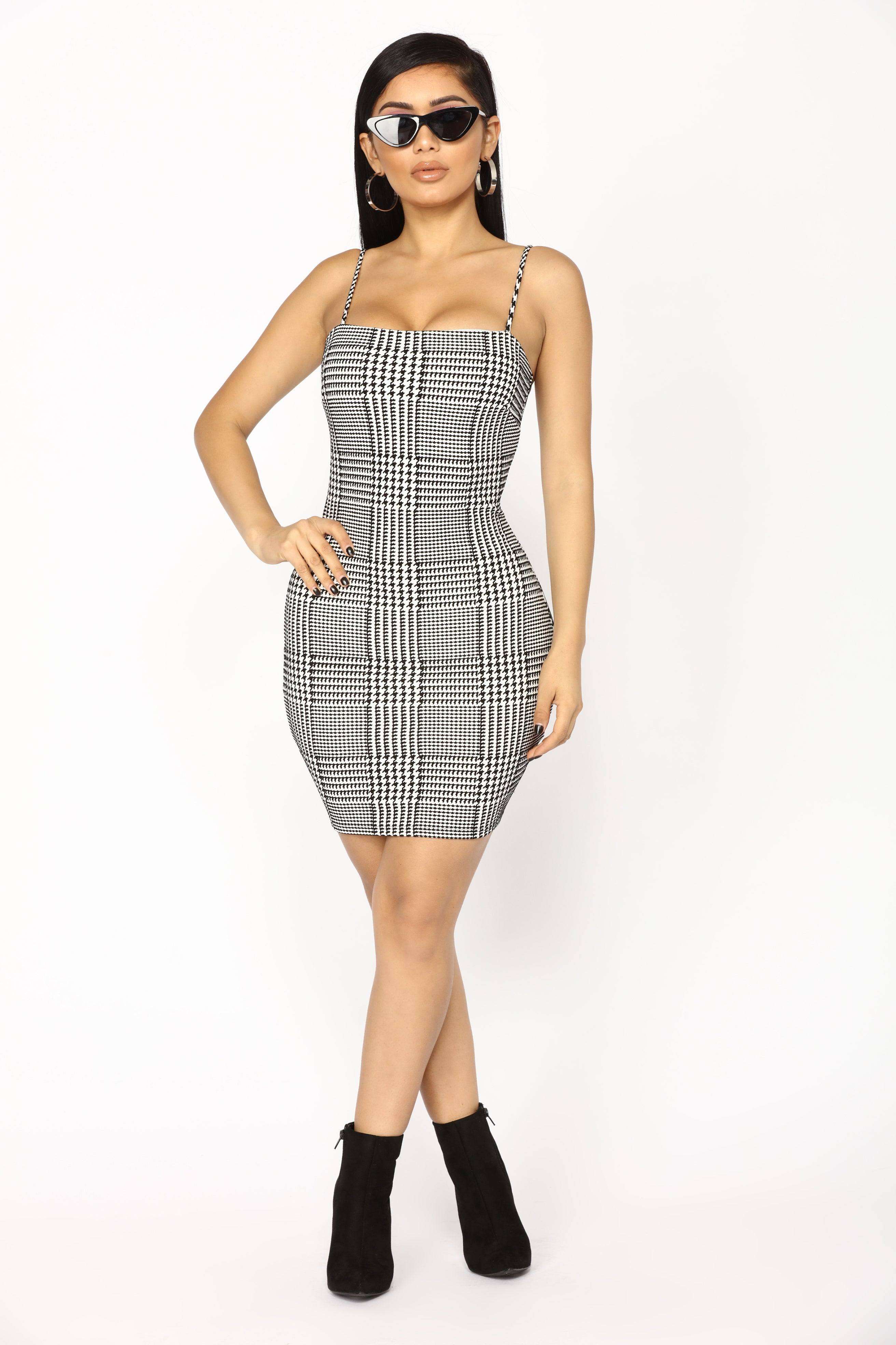 a7661961c37 Bills To Pay Houndstooth Dress - Black White