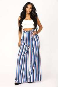 Vibiana Stripe Pants - Blue Multi Angle 1