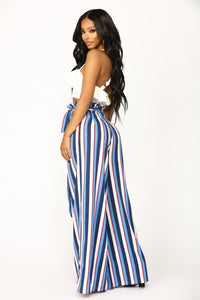 Vibiana Stripe Pants - Blue Multi