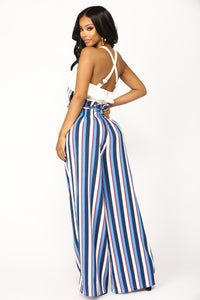 Vibiana Stripe Pants - Blue Multi Angle 6