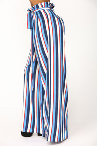 Vibiana Stripe Pants - Blue Multi Angle 3