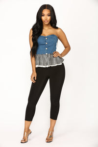 Morgan Denim Top - Denim Angle 2