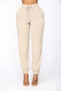 Beachy Breeze Jogger Pants - Khaki