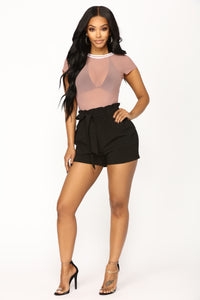 Don't Mesh With Me Bodysuit - Mauve