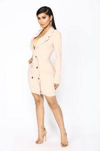 Enterprise Blazer Dress - Blush