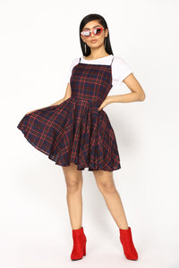 Nobody's Lady Mini Dress - Navy