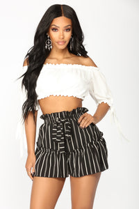 Rakel Off Shoulder Top - Off White
