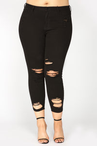 Shadow Dance Ankle Jeans - Black