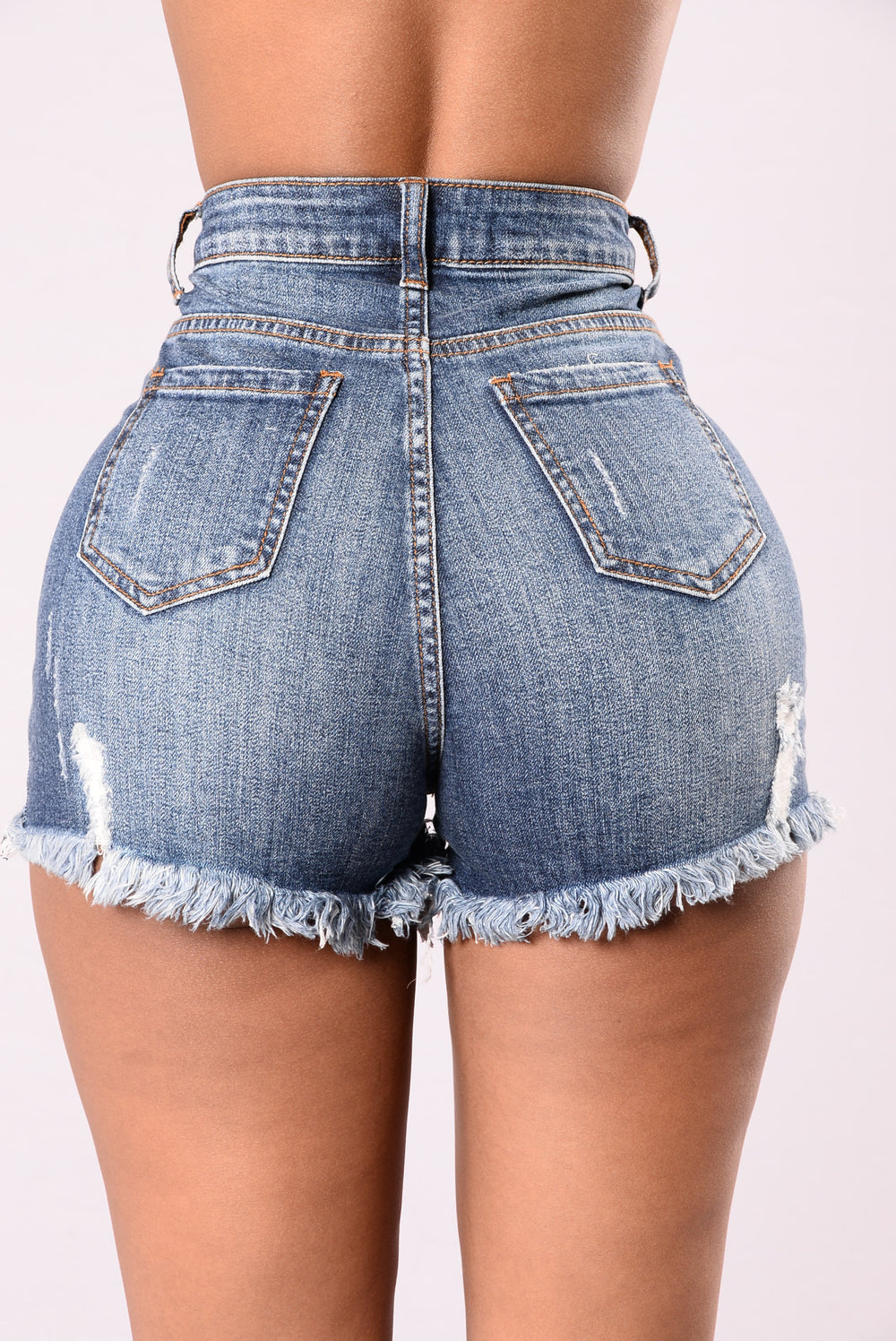 Dreaming Of Denim Shorts - Medium Blue