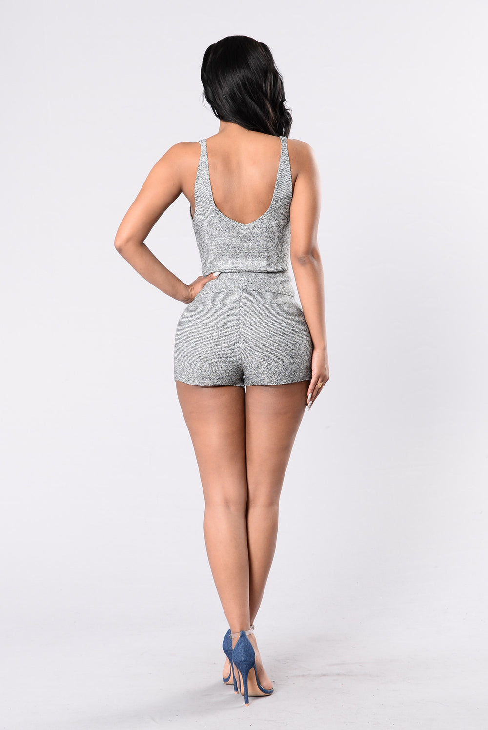 Spin City Top - Charcoal