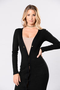 When You're In Love Cardigan - Black